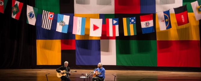 Caetano e Gil inauguram oficialmente a Ópera de Arame